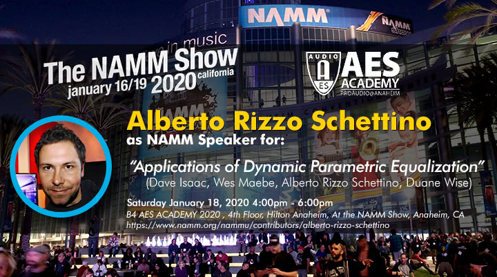 Alberto Rizzo Schettino as NAMM Speaker at NAMM 2020 Flyer